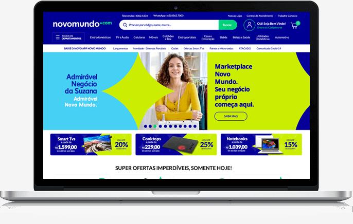 Computador com site Novo Mundo